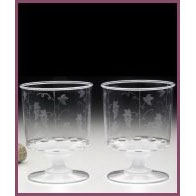 Pack of 10 clear goblets (185ml)