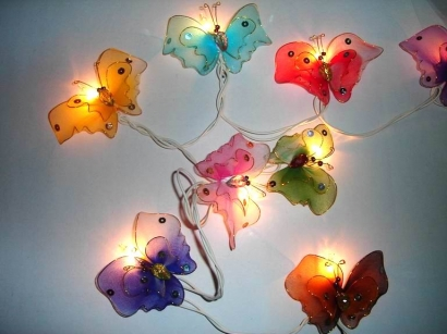Mixed Colour Butterfly String light