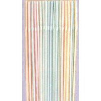 Pack of 40 drinking straws flexible (21cm)