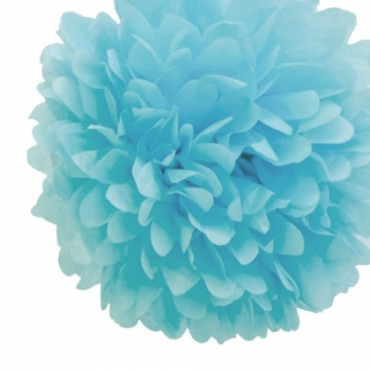 Light Blue Tissue Paper Pom Pom (38cm)