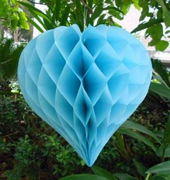 Light Blue Heart Honeycomb