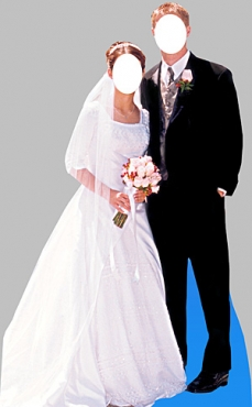 Bride and Groom Cutout