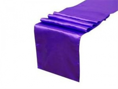 Purple Satin Table Runner VIEW LARGER IMAGE