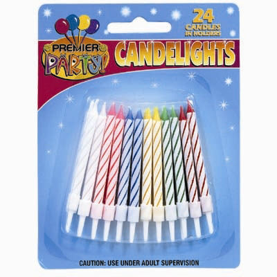 PACK OF 24 Birthday Candles