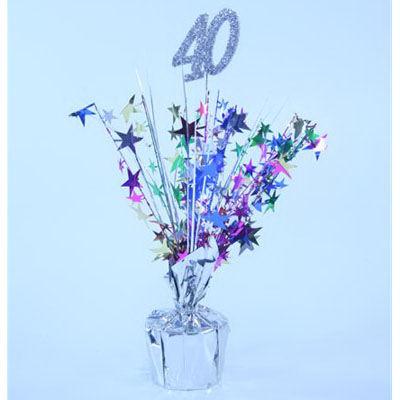 40th birthday centrepiece