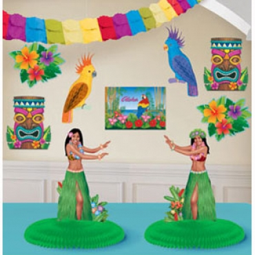 how to make luau decorations at home