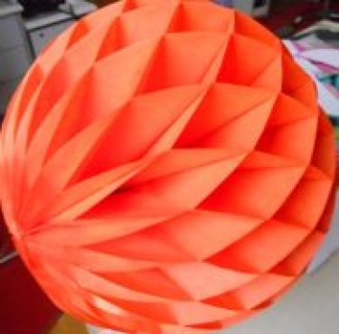 Orange Honeycomb Round Ball 40cm