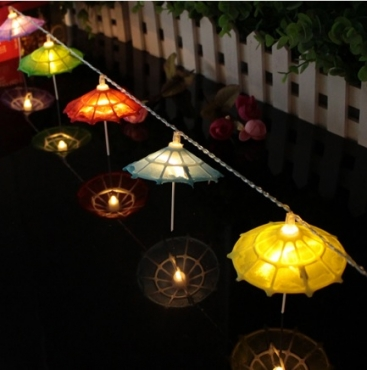 battery operated party string umbrella light for your decorations