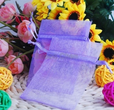 Purple Organza Bag 7x9cm (10)