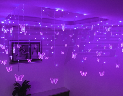Purple Butterfly Led Lights Pretty Decoration For Kids Room Parties