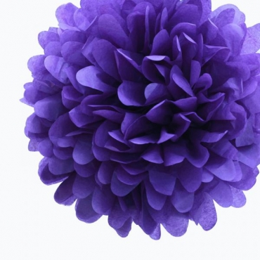 Purple Paper Tissue Pom Pom (38cm)