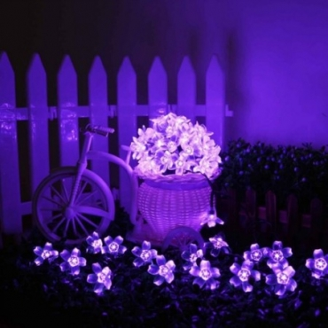 Purple Blossom Waterproof Solar Garden Lights