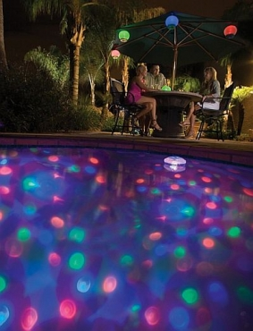 Solar Powered Disco Pool Light