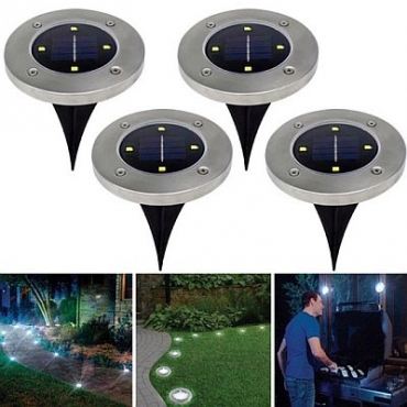 Highbright™ Solar Garden Disk Lights