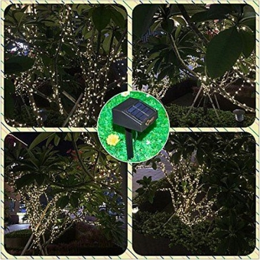 Solar Powered Fairy Lights 100 Led Warm White