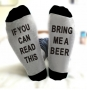 IF YOU CAN READ THIS Beer socks