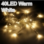 Warm White 40 LED battery Fairy lights